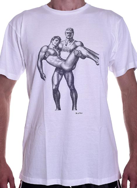 Tom of Finland Life Guard T-Shirt White Extra large