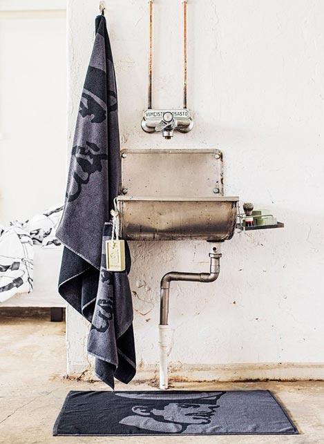 Tom of Finland Bath Towel Seaman Blue 90 x 180 cm
