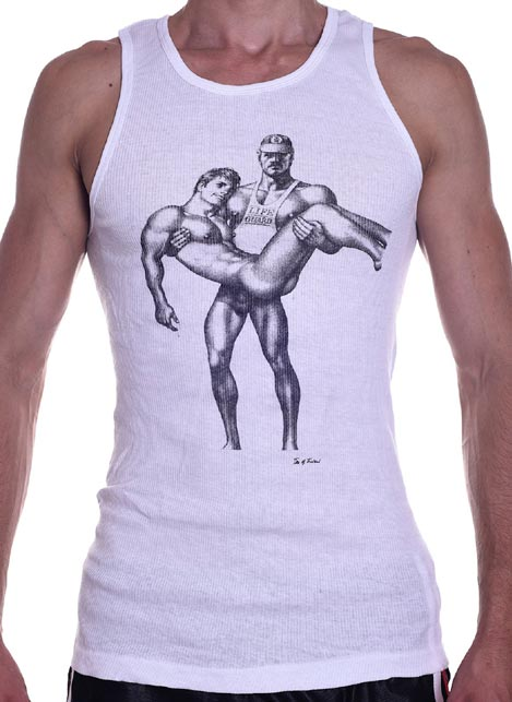 Tom of Finland Life Guard Tank Top White Medium