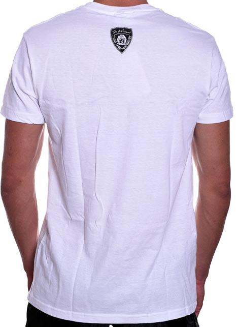 Tom of Finland Leather Duo T-Shirt White Medium