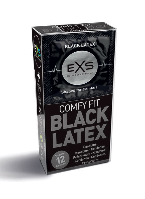 EXS Black Fantasy Condoms 195 x 56 mm 12 pack