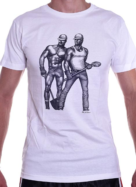 Tom of Finland Contruction Duo T-Shirt White Large
