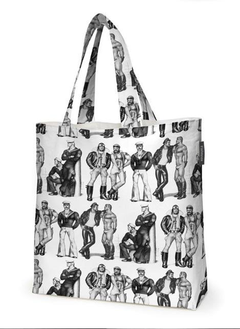 Tom of Finland Shopping Bag Fellows Black/White 45 x 42 cm