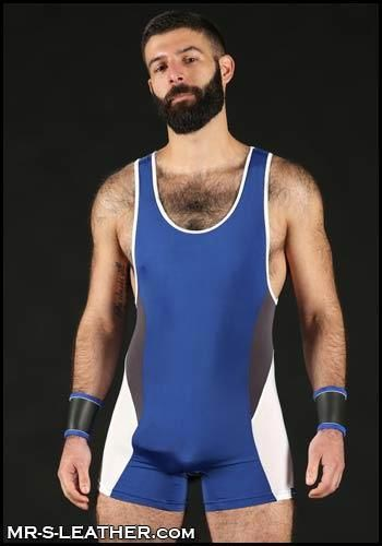 Mr. S Champion Singlet Blue Small