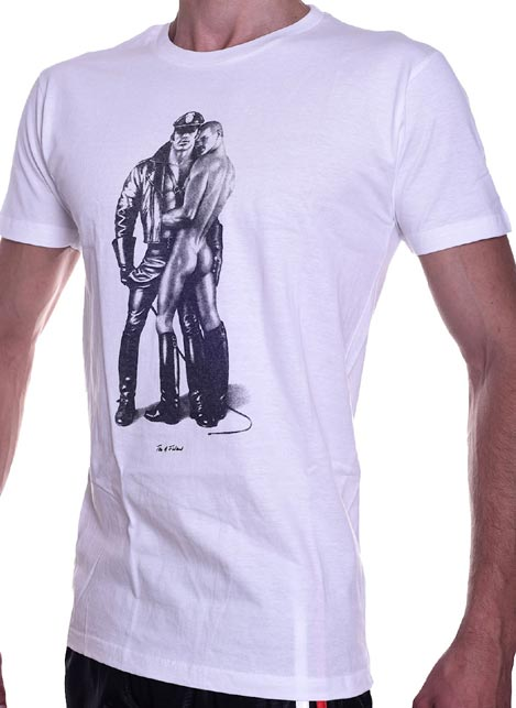 Tom of Finland Whip Boy T-Shirt White Large