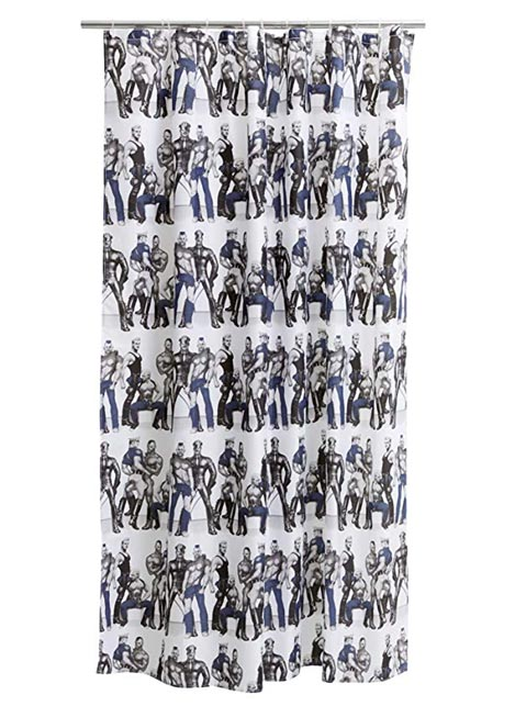 Tom of Finland Shower Curtain Blue Squad 180 x 200 cm