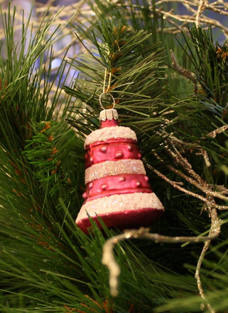 Haberland Pink Bell Christmas Ornament - 7