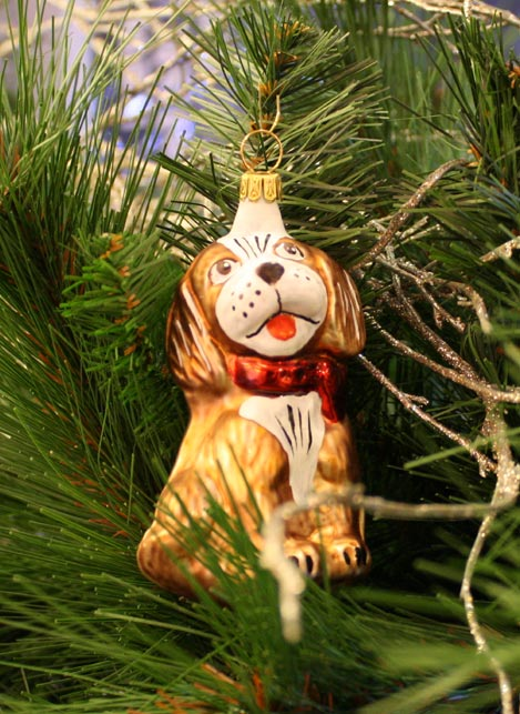 Haberland Brown Puppy Christmas Ornament - 10
