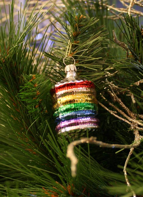 Haberland Rainbow Lantern Christmas Ornament - 1