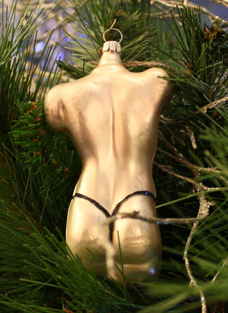 Haberland Male with Leopard Thong Christmas Ornament - 16