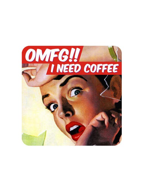 Dean Morris Coaster I Need Coffee