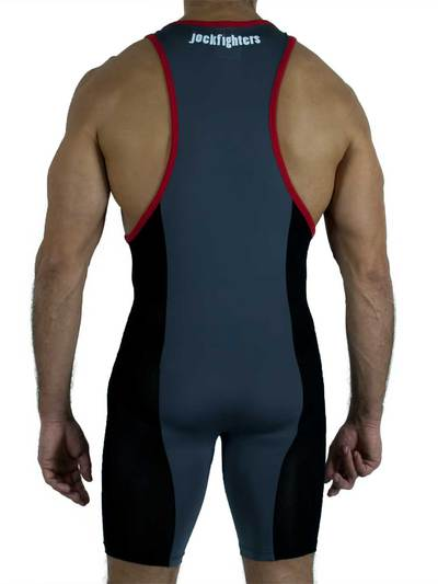 Jockfighters Wrestling singlet black small
