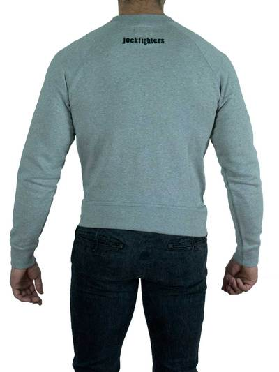 Jockfighters Logo sweater grey extra large