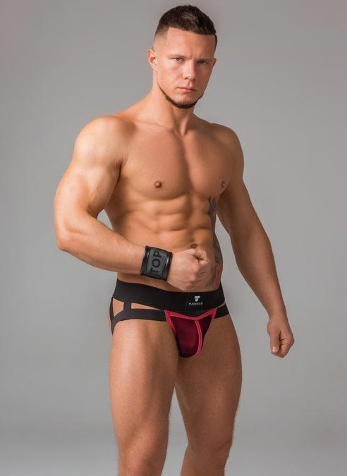 Maskulo Mesh Jockstrap Red Medium