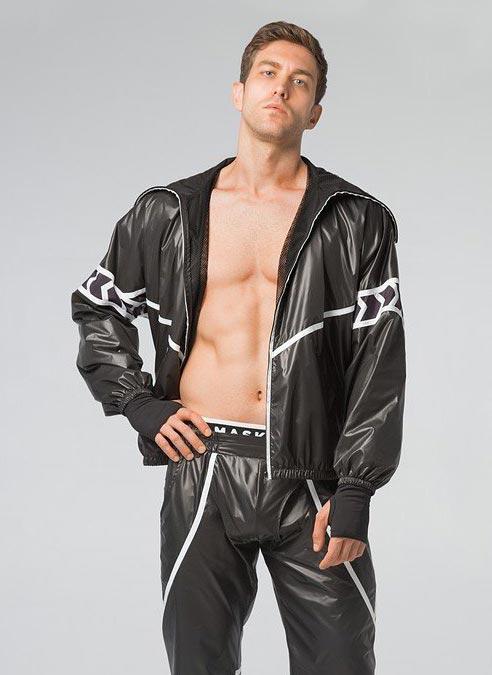 Maskulo Baggy Windbreaker Jacket Large