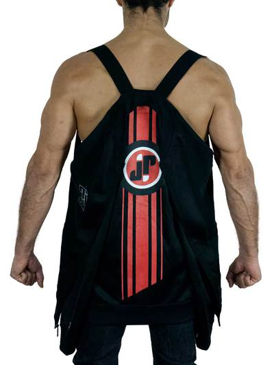 Jockfighters Striped full zip jacket black small