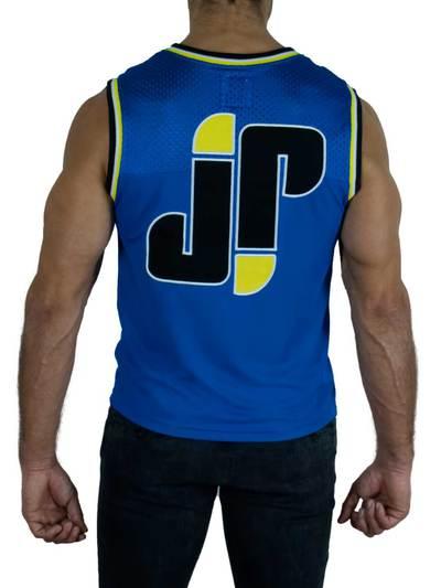 Jockfighters Basketball sleeveless shirt blue small