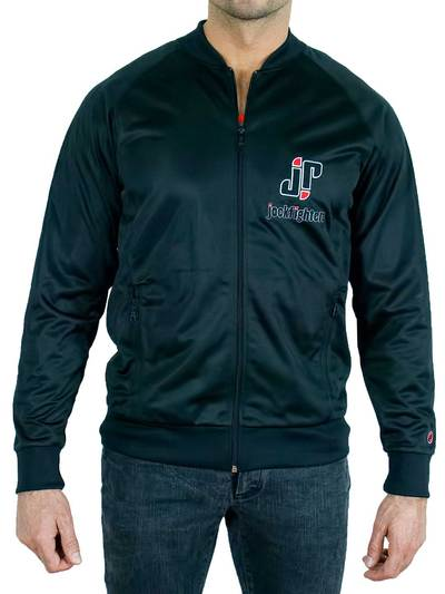 Jockfighters Striped full zip jacket black small