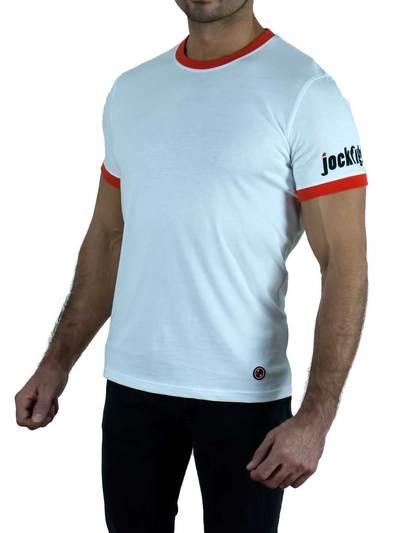 Jockfighters Football shirt with logo white small