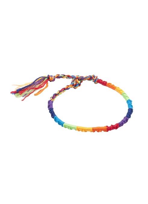 Rainbow Friendship Bracelet Braided