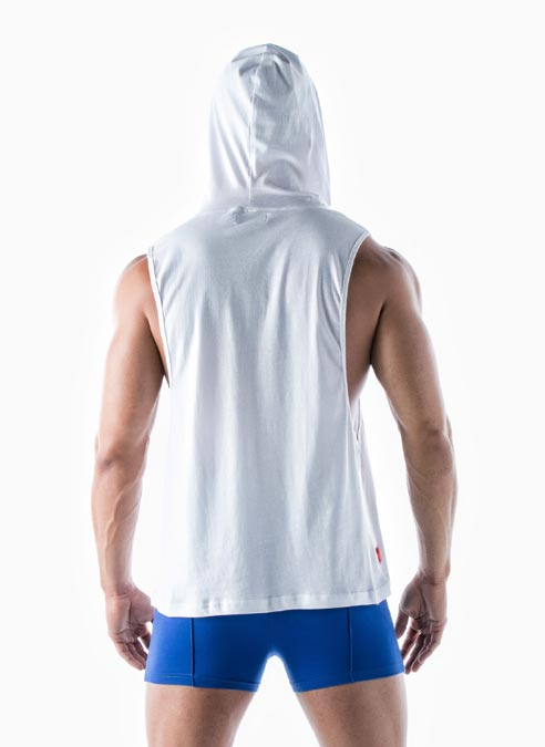 Leader Hooded Tank Top Geo Torch Small