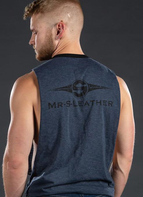 Mr. S Logo Butcher Tank Army Green Small
