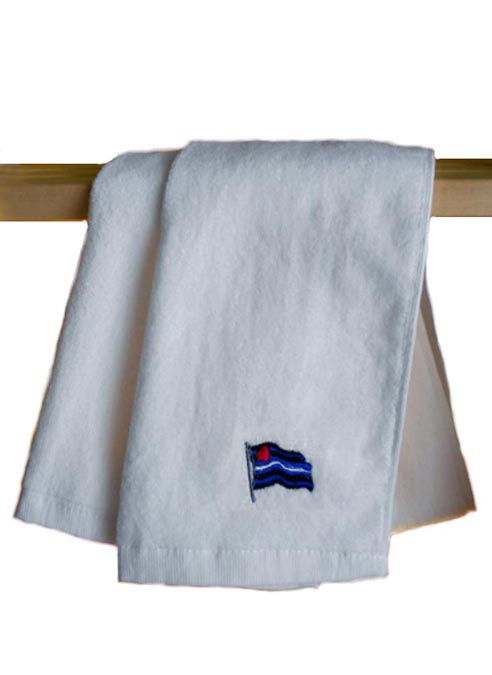 Leather Flag Gym Towel White 112 x 30 cm