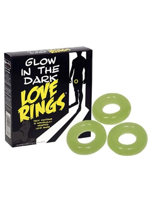 Glow in the Dark Love Rings Cockring