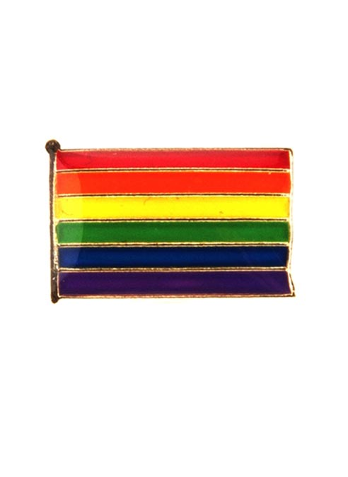 Pride Pin Rainbow Flag Rectangle