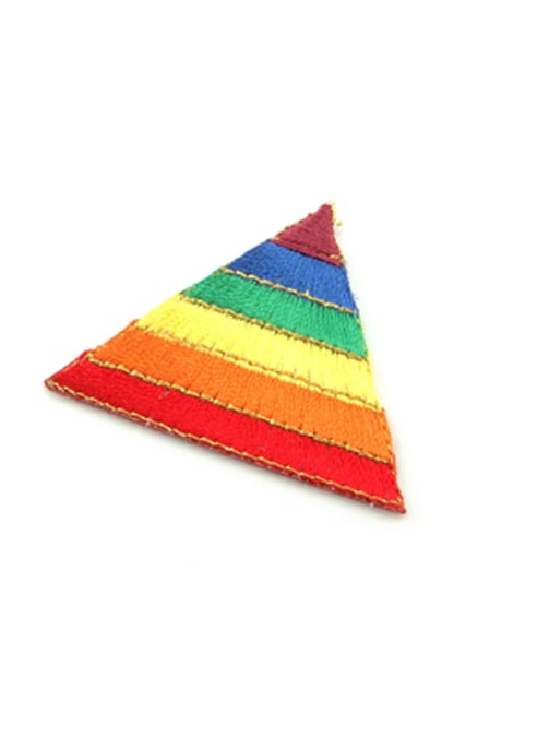 Triangle Rainbow Pride Iron On Patch