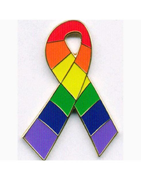 Pride Pin Rainbow Ribbon Deluxe