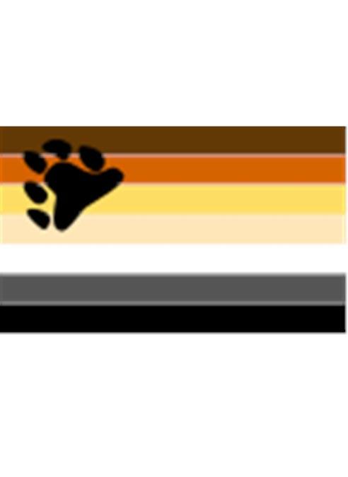 Pride Pin Bear Pride Flag Small