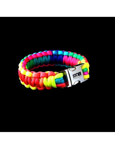 STOER Bracelet Paracord Rainbow 18 cm