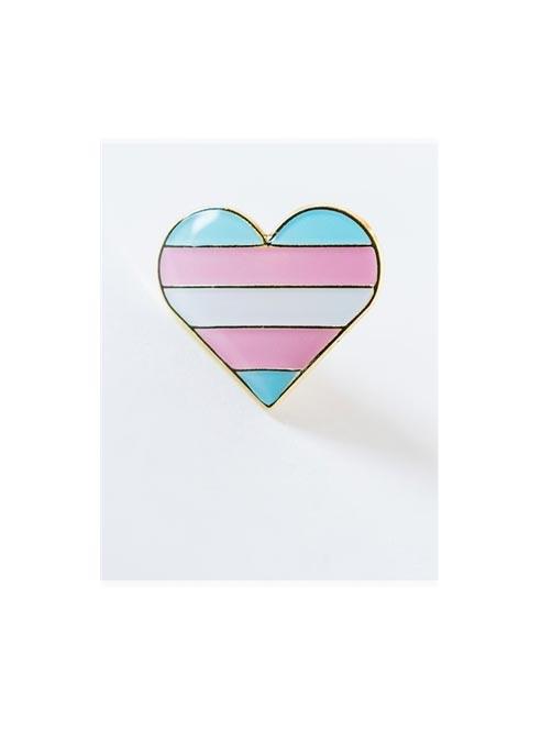 Pride Pin Transgender Pride Heart