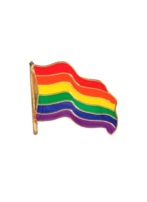 Pride Pin Wavy Rainbow Flag
