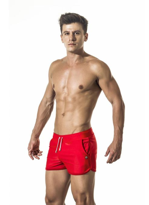 Gigo Swimwear Short Red Extra Large