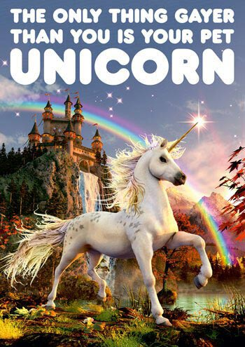 Dean Morris Card Pet Unicorn