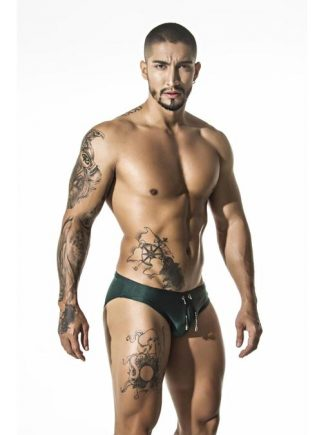 Gigo Swimwear Brief Green Extra Large