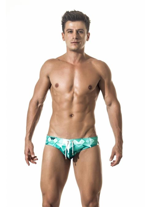 Gigo Swimwear Brief Futuristic Large