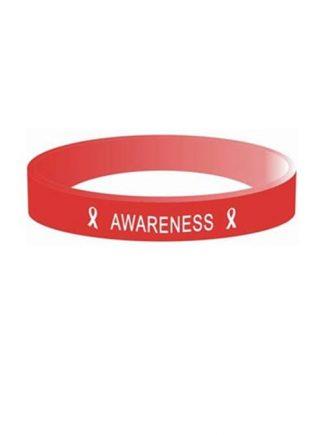 Aids Awareness Silicone Bracelet