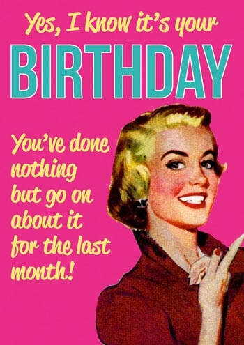 Dean Morris Card I Know It's Your Birthday