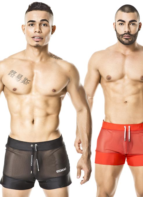 Gigo Sport Shorts Light Red Extra Large