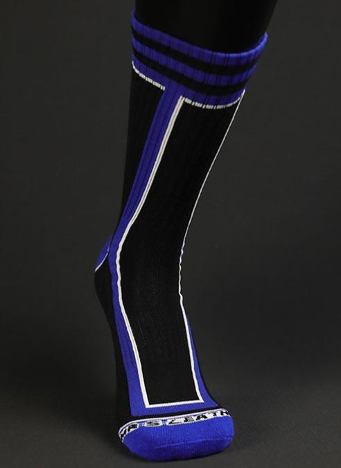 Mr. S Brawler Crew Socks Blue