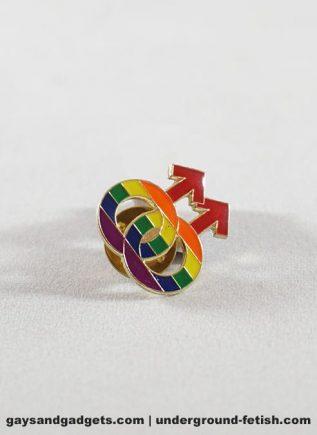 Pride Pin Rainbow Males