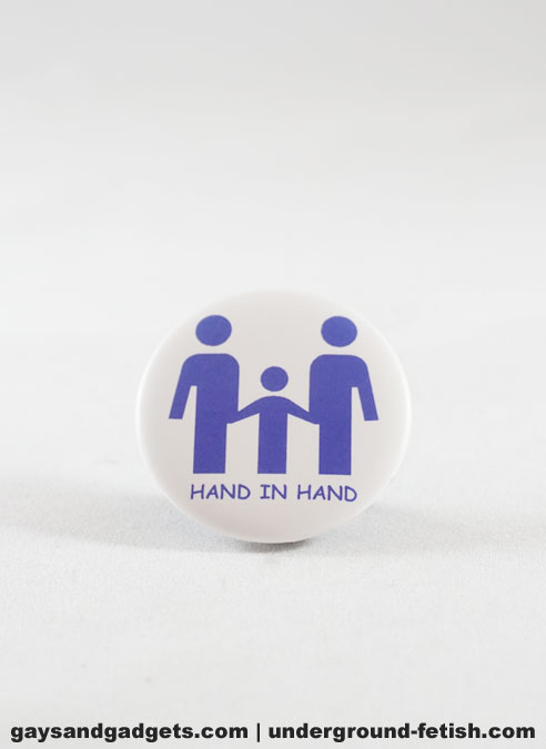Button Hand in Hand Blue