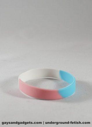 Trans Pride Silicone Bracelet Tie-Dye Small