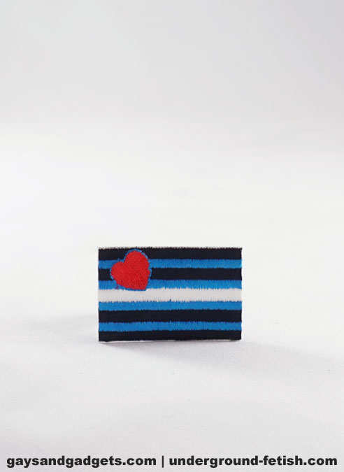 Sew on Leather Pride Patch Small