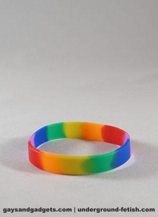 Rainbow Silicone Bracelet Tie-Dye Small