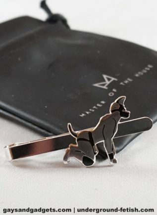 Master of the House Tie Clip Pup