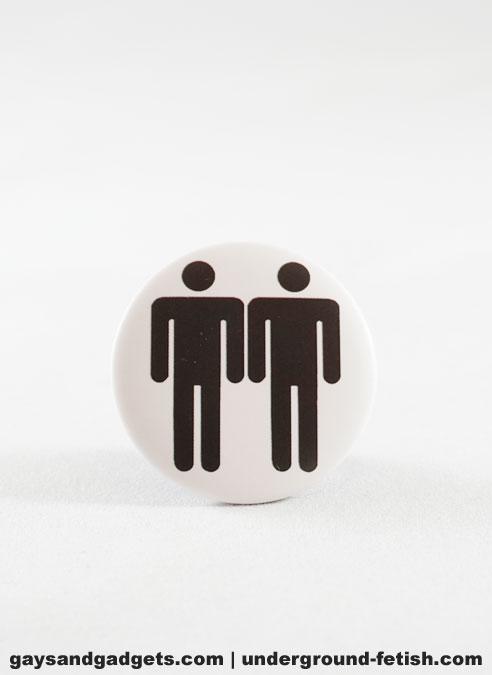 Button Two Men Black